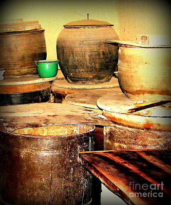 Photograph - Kitchen Storage Rural China by John Potts
