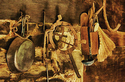 Indian Cherokee Digital Art - Kitchen Utensils by Priscilla Burgers