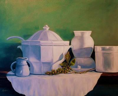 Kitchen Whites Original by Anne Barberi
