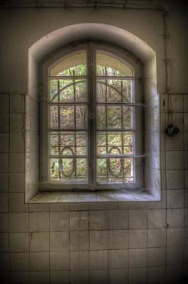 Creepy Digital Art - Kitchen Window by Nathan Wright
