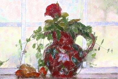 Photograph - Kitchen Window Still Life by Donna G Smith