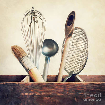 Wood Box Photograph - Kitchenware by Priska Wettstein