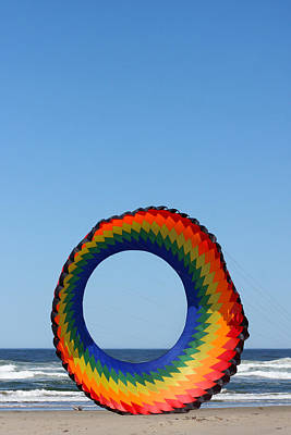 Morro Bay Ca Photograph - Kite And Dog by Art Block Collections