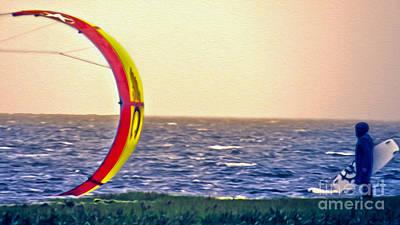 Photograph - Kite Boarder 2 by Dawn Gari