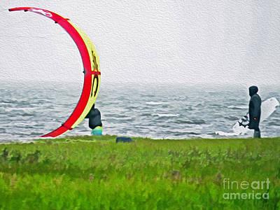 Kite Boarder Art Print