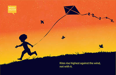 Famous Silhouettes Painting - Kite Flier by Sassan Filsoof