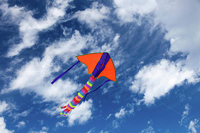 Kites Photograph - Kite Flying In Sky by Wladimir Bulgar