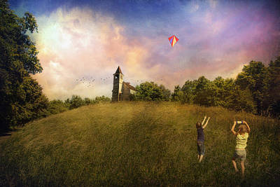 Kite Flying Art Print