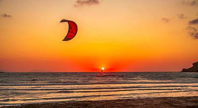 Design Turnpike Books - Kite over Prasonisi Sunset Beach by Julis Simo