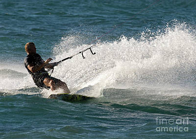 Kite Surfer 04 Art Print by Rick Piper Photography