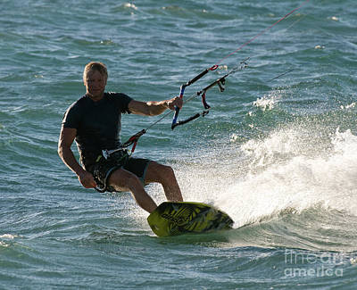 Kite Surfer 05 Art Print by Rick Piper Photography