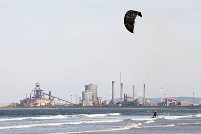 Kite Surfer Art Print by Ashley Cooper
