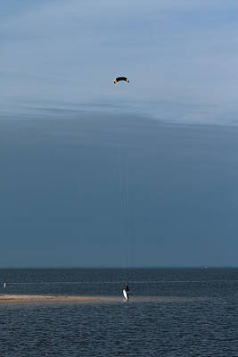 Photograph - Kite Surfer by Ed Gleichman