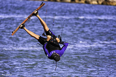 Photograph - Kite Surfer In The Air by Fran Gallogly