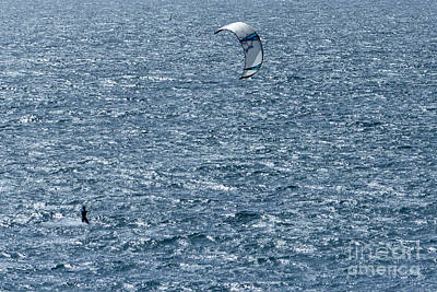 Photograph - Kite Surfing by Brian Roscorla