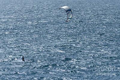 Photograph - Kite Surfing by Brian Roscorla