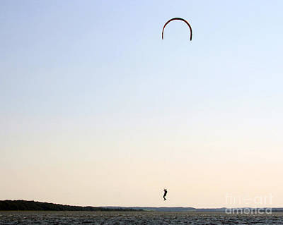 Kite Surfing Denmark Art Print by Juan Romagosa