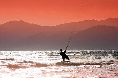 Kite Boarding Photograph - Kite Surfing by Gabriela Insuratelu