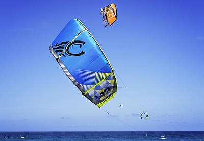 Photograph - Kite Surfing by Jody Lane
