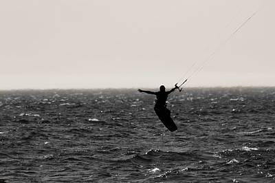 Kite Surfing Pose Art Print
