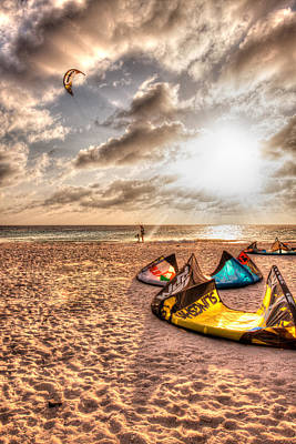 Photograph - Kitebeach In Bonaire by J Gregory Sherman