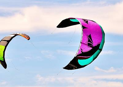 Photograph - Kiteboard Sails - Dewey Beach Delaware by Kim Bemis