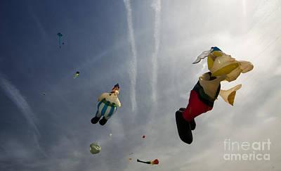 Chemtrails Photograph - Kites On The Sky by Angel  Tarantella