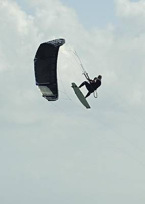 Kitesurfer In Mid-air Art Print