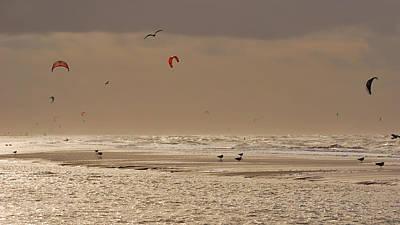Zandvoort Photograph - Kitesurfing by Duku Albu