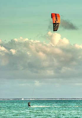 Photograph - Kitesurfing In Bora Bora by Gary Slawsky