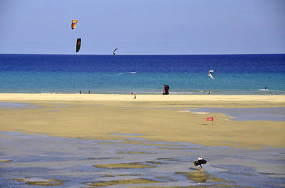 Art Print featuring the photograph Kitesurfing Spot And Beach View At Melia Gorionez  by Julis Simo