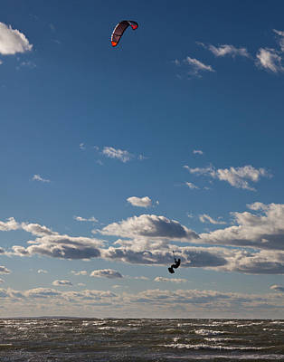 Kitesurfing The Long Island Sound Art Print