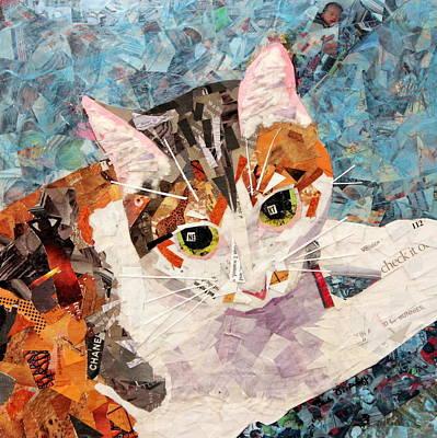 Tears Drawing - Kitkat by Paula Dickerhoff