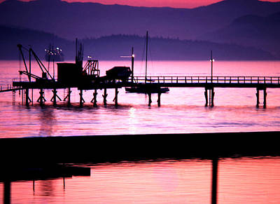 Photograph - Kits Dock In Pink by Robert  Rodvik