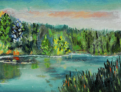 Painting - Kittatiny Pond by Michael Daniels