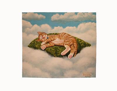 Catnap Painting - Kitten Dreams by Reuven Gayle