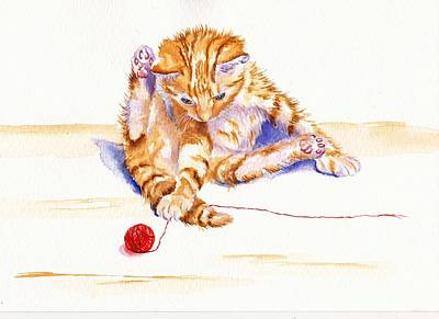 Kitten Interrupted Art Print
