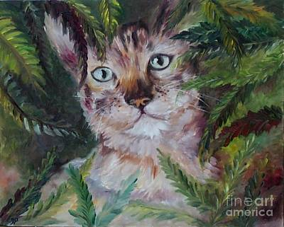 Painting - Kitten by Irene Pomirchy