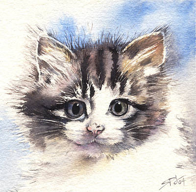 Kitten Lily Art Print by Sandra Phryce-Jones