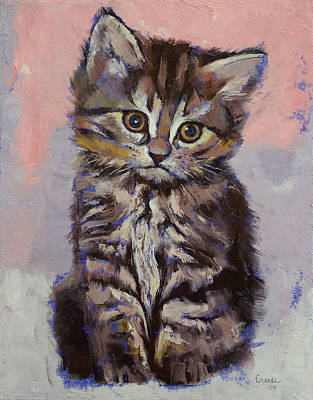 Persian Painting - Kitten by Michael Creese
