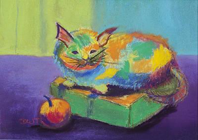 Kitten On A Box Original by Diana Tripp