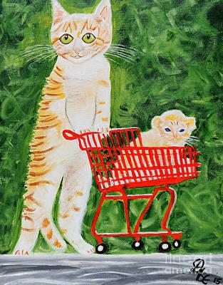 Kitten Walk Art Print