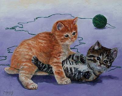 Painting - Kittens At Play by Donna Munsch