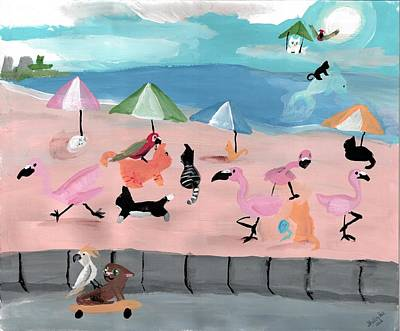 Shelby Painting - Kitties In Rio by Artists With Autism Inc