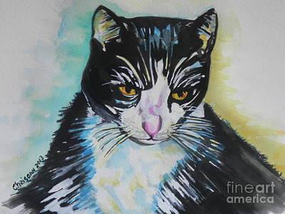 Kitty ..all Grown Up Art Print by Chrisann Ellis