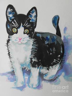 Kitty Art Print by Chrisann Ellis