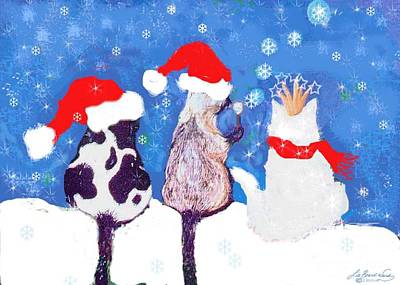 Digital Art - Kitty Christmas by Lizi Beard-Ward