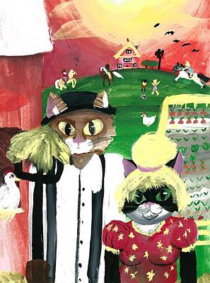 Kitty Farmer Art Print by Artists With Autism Inc