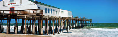 Kitty Hawk Pier On The Beach, Kitty Art Print by Panoramic Images