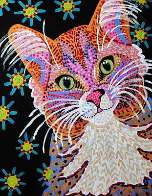 Painting - Pink Kitty From Krelly Art by Kelly Nicodemus-Miller